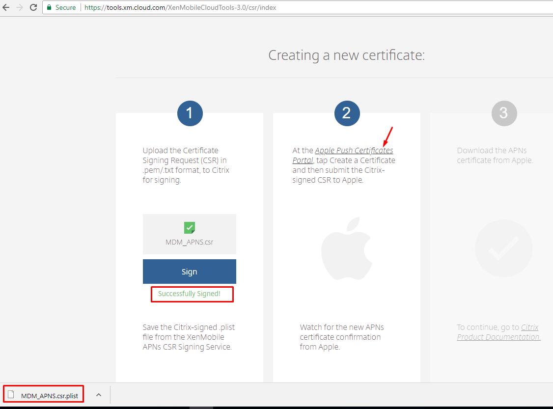 Xenmobile apple apns certificate creation steps siva sankar blogs step 3 apns certificate generation from apple portal 1betcityfo Image collections