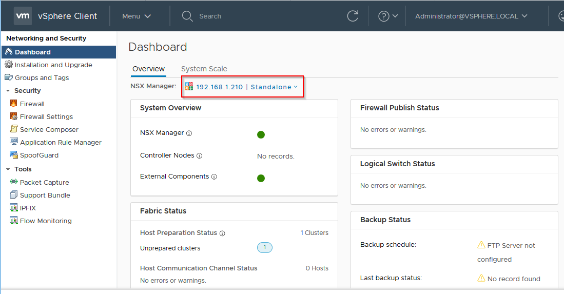 Part-1 : VMWare NSX Manager 6 4 x Installation and Initial
